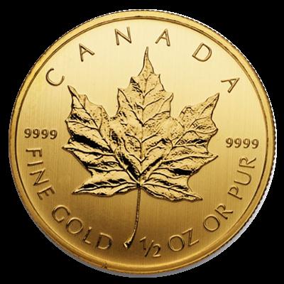 Maple Leaf Goldmünze 1/2 Unze