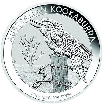 Kookaburra 1kg Silbermünze