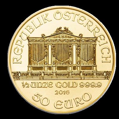 Wiener Philharmoniker Goldmünze 1/2 Unze