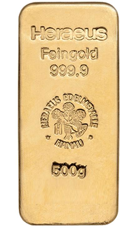 500g Goldbarren
