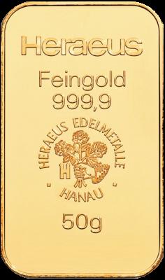 50g Goldbarren