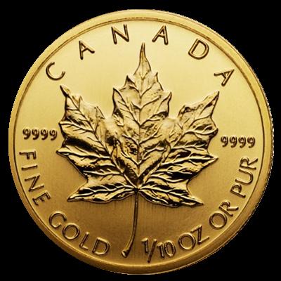 Maple Leaf Goldmünze 1/10 Unze