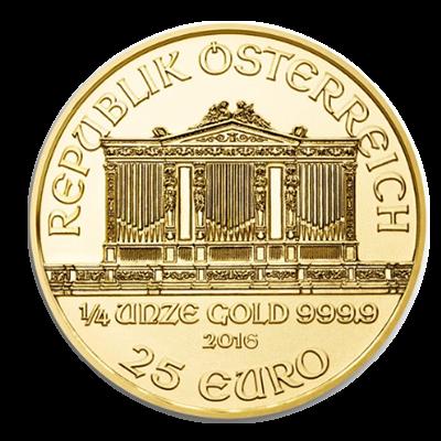 Wiener Philharmoniker Goldmünze 1/4 Unze