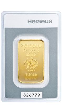 1 Unze Goldbarren