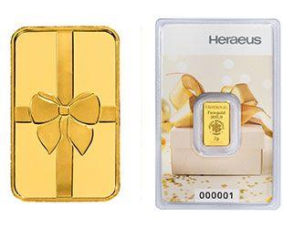 2g Gold Geschenkbarren