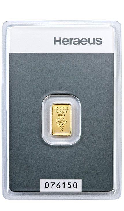 1g Goldbarren