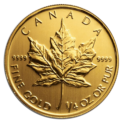Maple Leaf Goldmünze 1/4 Unze