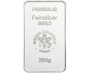 250g Silberbarren
