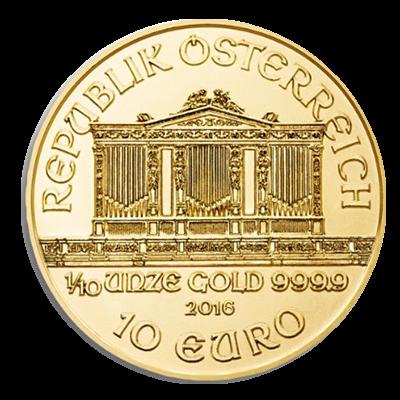 Wiener Philharmoniker Goldmünze 1/10 Unze