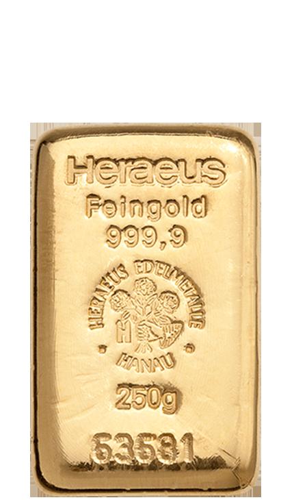 250g Goldbarren