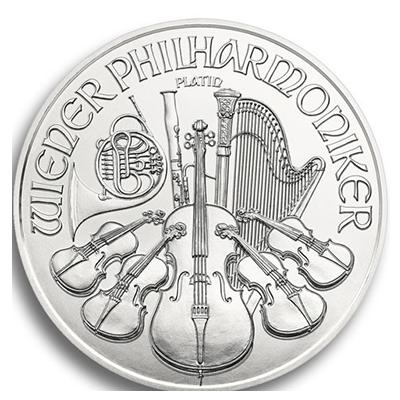 Wiener Philharmoniker Platinmünze 1 Unze
