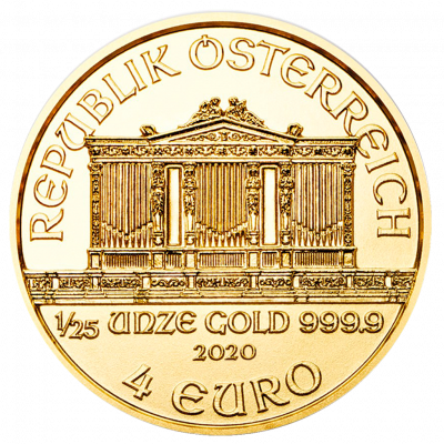 Wiener Philharmoniker Goldmünze 1/25 Unze