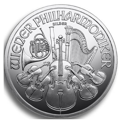 Wiener Philharmoniker Silbermünze 1 Unze