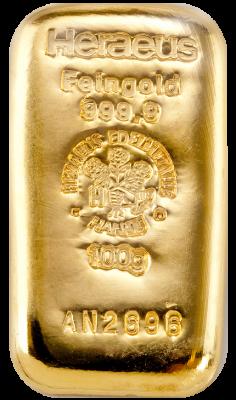 100g Goldbarren